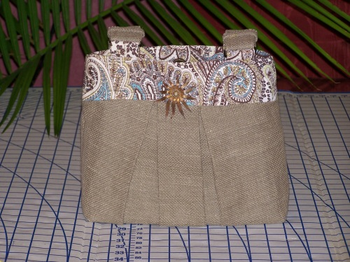 Linen Safari Handbag