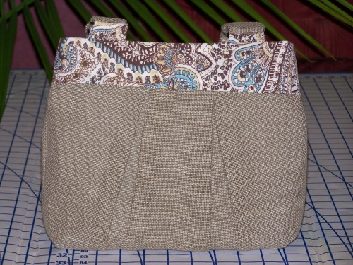 Linen Safari Handbag (back view)