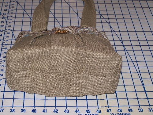 Linen Safari Handbag (bottom view)