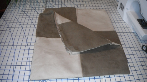 Next project- Suede totebag made from a pillowcase