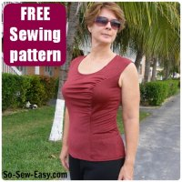 Sewing Tip- Make your own gathered front Top