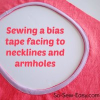 Sewing Tip-How to sew a bias facing for a neckline or arm holes