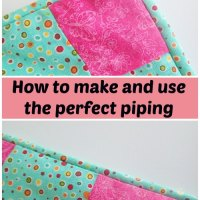 Sewing Tip- Make your own piping!
