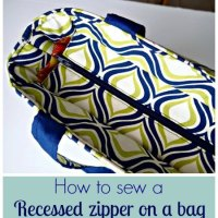 Sewing Tip- Tutorial on how to sew a recessed zipper on a bag