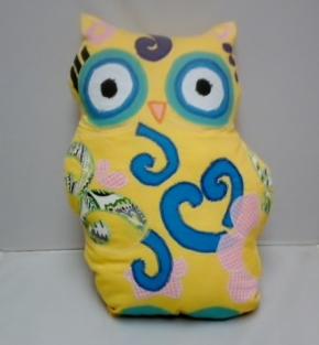 Whimsical Owl Pillow