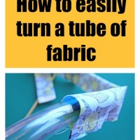 Sewing Tip-Easy way to turn a tube of fabric right side out