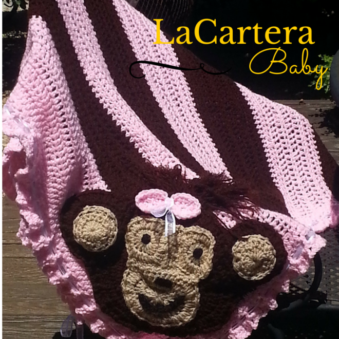 Crochet Applique - https://lacarteradesigns.com/2015/06/29/monkey-business-crochet-blanket-tutorial-with-monkey-applique/