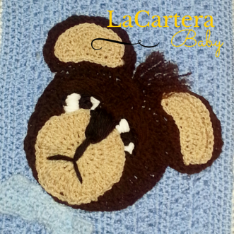 Crochet Applique - https://lacarteradesigns.com/2015/06/06/sleepy-boo-boo-bear-crochet-applique/