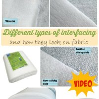 Sewing Tip- Comparison of Different Types of Interfacing