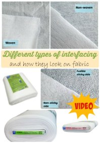 Sewing Tip - https://lacarteradesigns.com/2015/07/08/sewing-tip-comparison-of-different-types-of-interfacing/