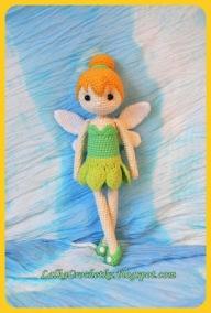 Crochet Tinker Bell Doll - http://lalkacrochetka.blogspot.com/2015/11/tinkerbell-fairy-doll-lalka-wrozka.html