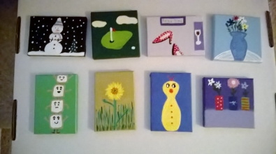 Small Hand-painted Canvas gifts - Fan Posted on LaCartera Facebook Page