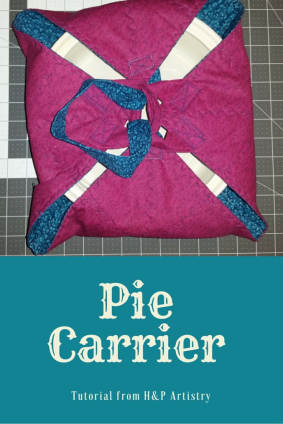 Fat Quarter Pie Carrier Tutorial - http://www.handpartistry.com/fat-quarter-pie-carrier-tutorial/