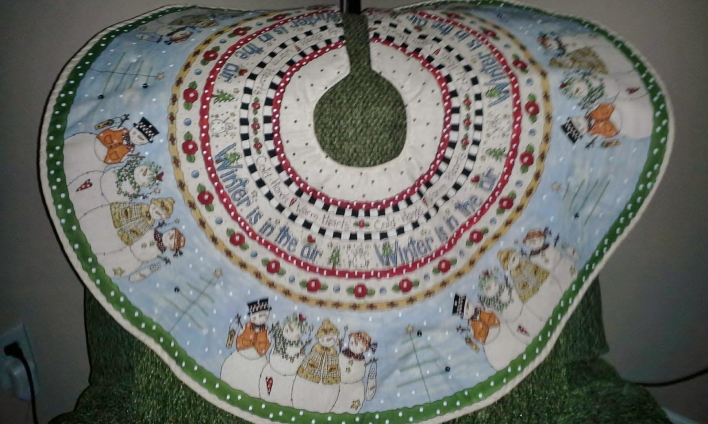 Handmade Christmas Tree Skirt - Fan Posted on LaCartera Facebook Page