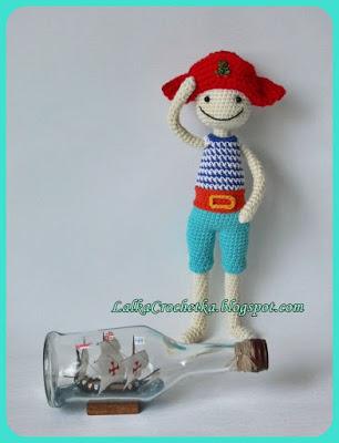 Lalka Crochet Pirate Doll - http://lalkacrochetka.blogspot.com/2015/11/pirat-doll-lalka-pirat.html