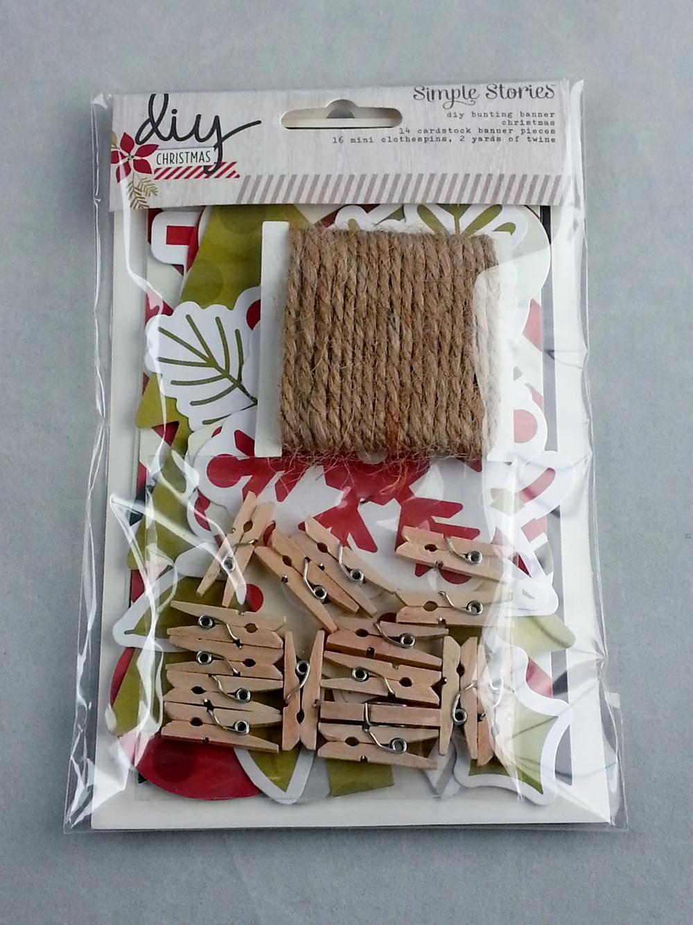LaCartera -Simple Stories DIY Christmas bunting