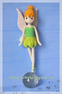 Tall Tinker Bell Fairy Doll - http://lalkacrochetka.blogspot.com/2015/12/tinkerbell-fairy-doll-lalka-wrozka_13.html