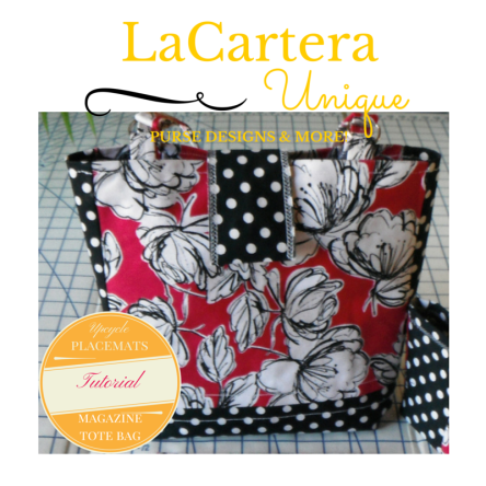 Upclycled Placemats - Magazine Tote bag Tutorial - http://wp.me/p2ZX0M-3B