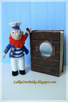 Doll Crochetka - http://lalkacrochetka.blogspot.com/2016/01/captain-pyk-pyk-kapitan-pyk-pyk.html