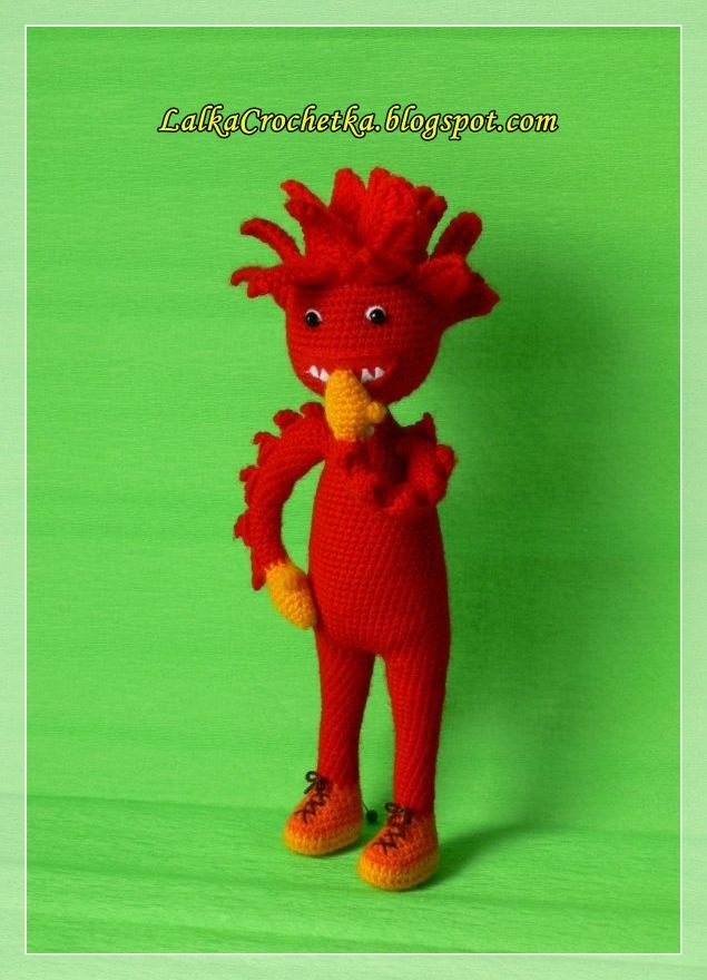 Fiery Crochet Doll - http://lalkacrochetka.blogspot.com/2016/01/fiery-doll-lalka-ognik.html