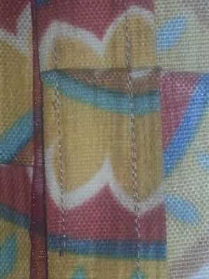 Valance side pleat stitch