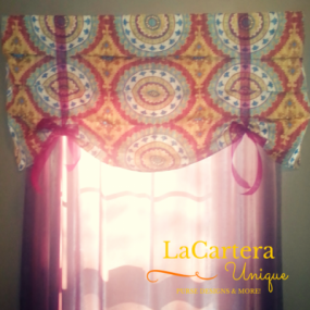 Valance Tutorial - LaCartera - https://lacarteradesigns.com/2016/01/18/8-steps-to-create-a-valance-or-faux-roman-shade-tutorial/