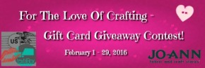 Giveaway! – Enter to win one of three JoAnn Fabric Store GiftCards!