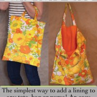 Sewing Tip - How to add a Lining to any bag