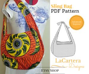 Etsy Shop - http://www.lacarteradesigns.com/listing/464329253/sling-bag-pdf-pattern