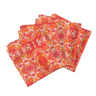 Amarela-Cloth Dinner Napkins (Set of 4) - https://www.roostery.com/p/amarela-cloth-dinner-napkins/5392027-orange-tile-by-lacartera