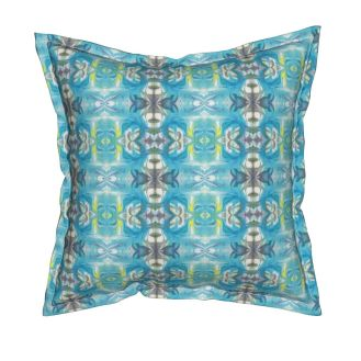 "Catalan-Square Throw Pillow With Insert, 18"" X 18"" - https://www.roostery.com/p/catalan-square-throw-pillow/5632615-turquoise-slate-maze-by-lacartera"