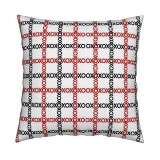 "Catalan-Square Throw Pillow With Insert, 18"" X 18"" - https://www.roostery.com/p/catalan-square-throw-pillow/5562518-xoxo-link-chain-by-lacartera"