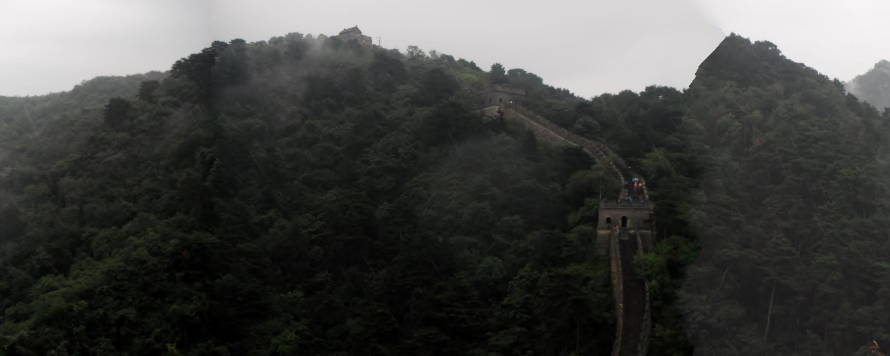 panoramic view around the Great Wall of China in Mutianyu