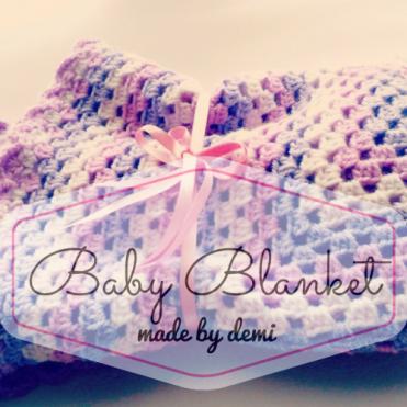 Baby Blanket - made by Demi - https://madebydemi.wordpress.com/2016/10/23/crochet-baby-blanket/