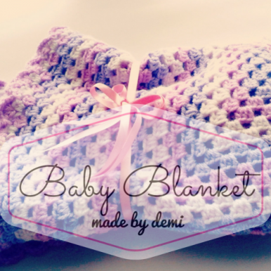 Baby Blanket - made by Demi - https://madebydemi.wordpress.com/2016/10/23/crochet-baby-blanket/