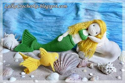 Lalka Crochetka- Mermaid Doll : http://lalkacrochetka.blogspot.com/2016/09/mermaid-doll-diana-lalka-syrenka-diana.html