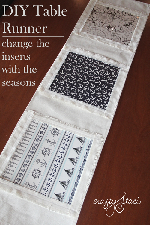 Table-Runner change with the seasons - by Crafty Staci