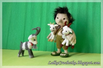 Lalka Crochetka - Three goats and a Troll:http://lalkacrochetka.blogspot.com/2016/10/the-three-billy-goats-gruff-and-troll.html