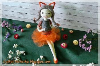 Crochet Fox Doll - by Lalka Crochetka - http://lalkacrochetka.blogspot.com/2016/10/fox-doll-lalka-lisek.html