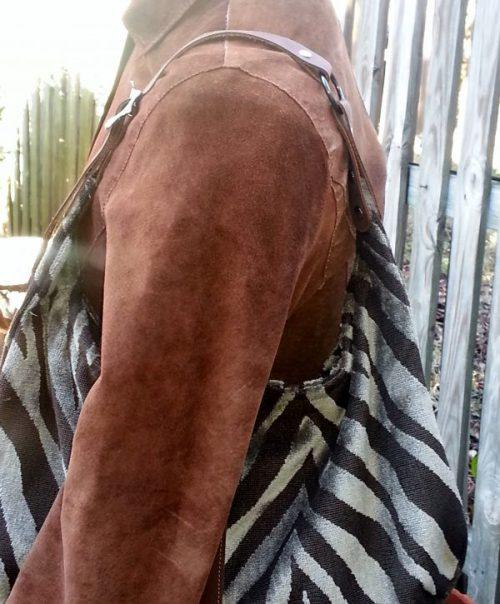 Brown Zebra Hobo Handbag