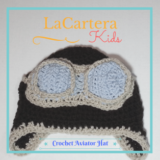 Crochet Aviator Hat - https://lacarteradesigns.com/2016/12/01/lacartera-kids-crochet-aviator-hat-free-pattern/