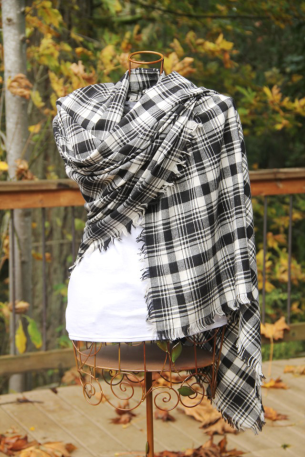 Fringed Blanket Scarf - by Crafty Staci - https://craftystaci.com/2016/10/26/fringed-blanket-scarf/