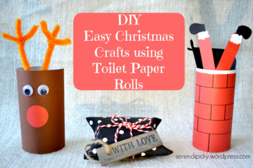 DIY Easy Christmas Crafts Using Toilet Paper Rolls - by Serendipidiy -https://serendipidiy.wordpress.com/2016/11/04/diy-easy-christmas-crafts-using-toilet-rolls-🎅🏻🎄🎁/?preview=true