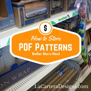 Cheap PDF Storage ideas - by La Cartera - https://lacarteradesigns.com/2016/02/18/sewing-tip-cheap-pdf-pattern-storage-ideas/