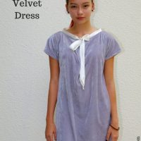 Sewing Tip - Make a Crushed Velvet Dress With This Free Pattern & Tutorial