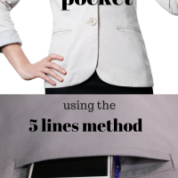 Sewing Tip - How to Make a Double Welt Pocket