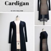 Make a Long Cardigan With This Free Pattern - Sewing Tip