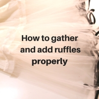 Sewing Tip - How to Gather Fabric and add Ruffles