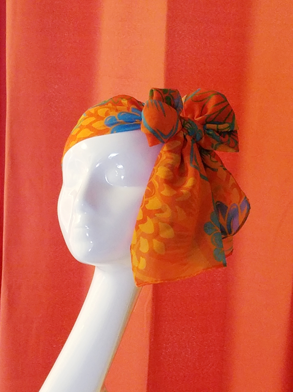 Orange Mod Floral - LaCartera
