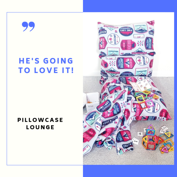 Boys pillowcase lounge